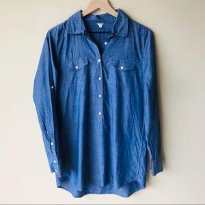 J. Crew chambray shirt dress